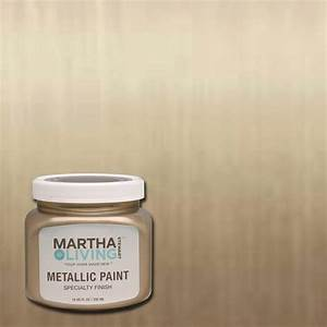 martha stewart living 10 oz vintage gold satin metallic With home depot metallic furniture paint