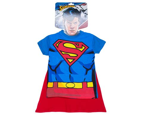 Dc Comics Kids' Superman Dress Up T-shirt W/ Mask