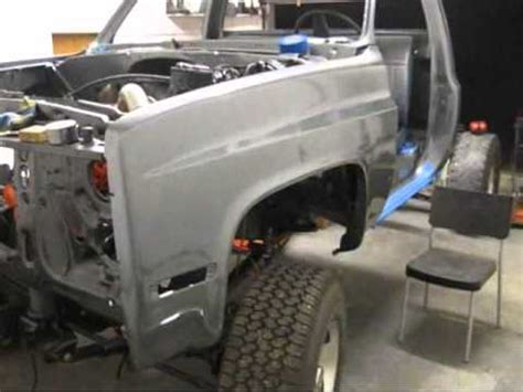 cummins chevy front fenders painted  fender alignment