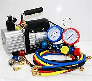 R410a R134a R22 4 8 Cfm Vacuum Pump Hvac A  C Refrigerant W