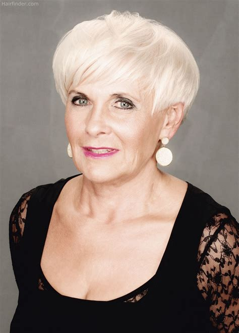 Short, sassy, practical and wearable hairstyle for older women