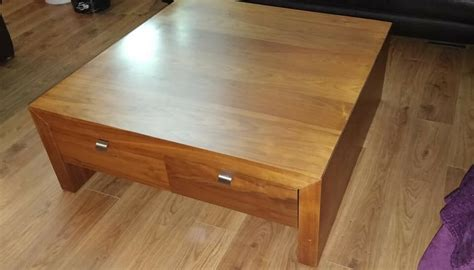 It s the centre of attention in the living room and comes in many materials enter the coffee table. Large square walnut coffee table with drawer storage - collect stonehaven | in Stonehaven ...