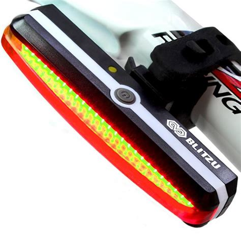 brightest rear bike light ultra bright bike light blitzu cyborg 168t usb