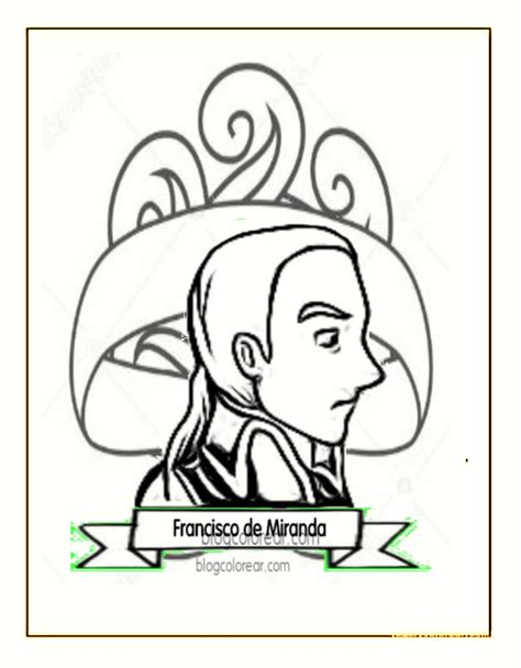 dibujos de francisco de miranda colorear colorear dibujos infantiles