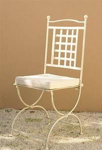 Chaise Fer Forgé : chaise en fer forg de style proven al fabrication fran aise villa m lodie ~ Teatrodelosmanantiales.com Idées de Décoration