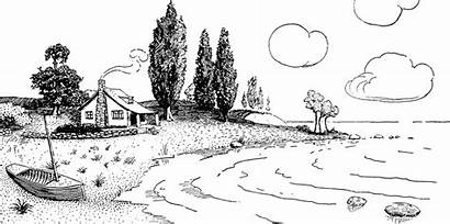 Lake Clipart Cottage Clip Lakes Summer Cliparts