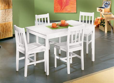 table et chaise en pin table et 4 chaises contemporain en pin massif blanc oklahoma ensemble table et chaises cuisine