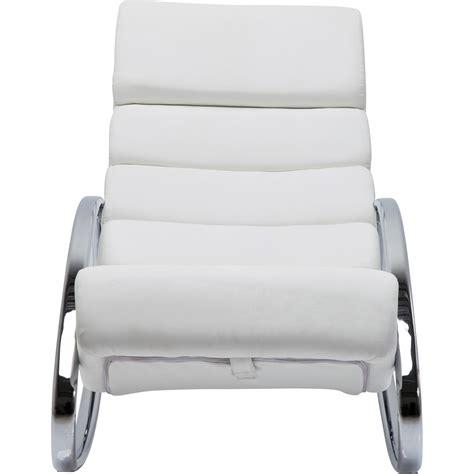 bureau kare design fauteuil a bascule moderne blanc manhattan kare design