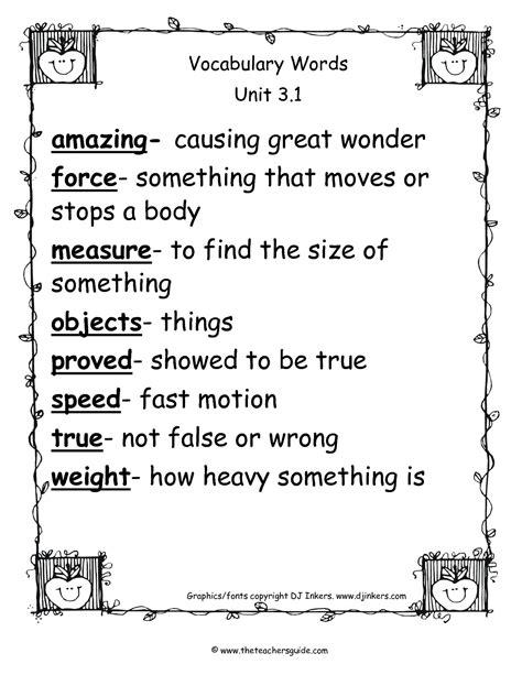 Wonders Second Grade Unit Three Week One Printouts