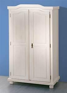 Massivholz Kleiderschrank Weiß : schrank kleiderschrank landhausstil 2 t ren ablagef cher massivholz wei heide ebay ~ A.2002-acura-tl-radio.info Haus und Dekorationen