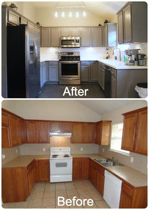 kitchen tiles for diy kitchen re do rust oleum cabinet resurfacer painted 6301