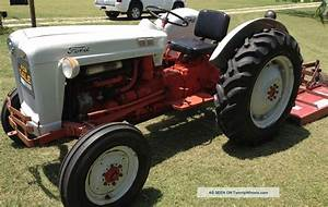 Ford Tractor With Mower 1956 Model 600