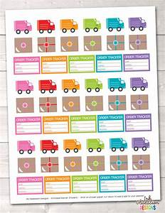 delivery trucks packages printable planner stickers With design and order stickers