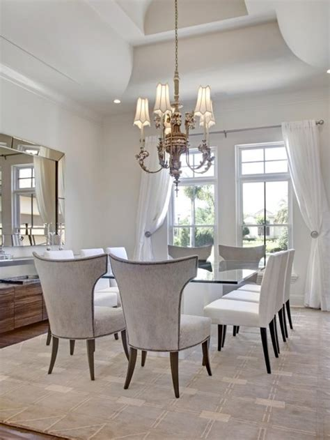 white dining room houzz