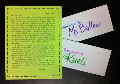 letter  parents introducing teacher  requesting