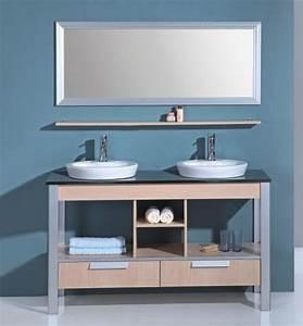 Meuble Vasque Sur Pied : motta meuble salle de bain double vasque sur pieds 140x52x82 ebay ~ Teatrodelosmanantiales.com Idées de Décoration