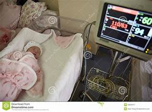 A Newborn Under Monitoring By Machine Stock Image - Image ...
