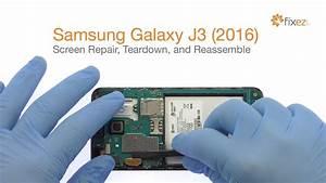 Samsung Galaxy J3  2016  Screen Repair  Teardown And