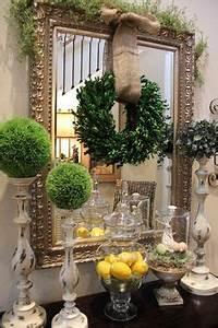 Wreath Over Mirror on Pinterest