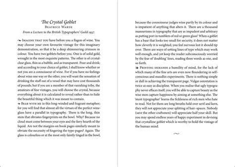 Beatrice Warde Goblet Sixteen Essays Typography by Beatrice Ward The Goblet Images Frompo 1