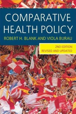comparative health policy  robert  blank