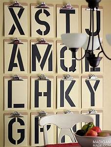 How to turn quotes into art hgtv39s decorating design for What kind of paint to use on kitchen cabinets for letter stencils for wall art