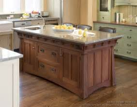 kitchen islands with cabinets mission style kitchens designs and photos