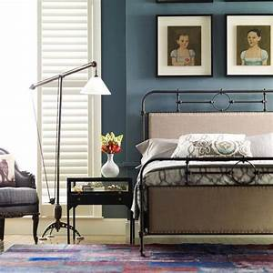 21st century campaign bed iron and upholstered frame With century 21 bedding