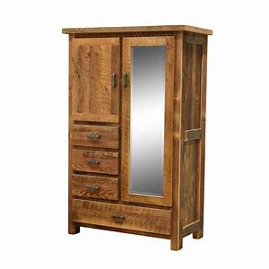 Barnwood Farmhouse Four Drawer Armoire - Amish Crafted