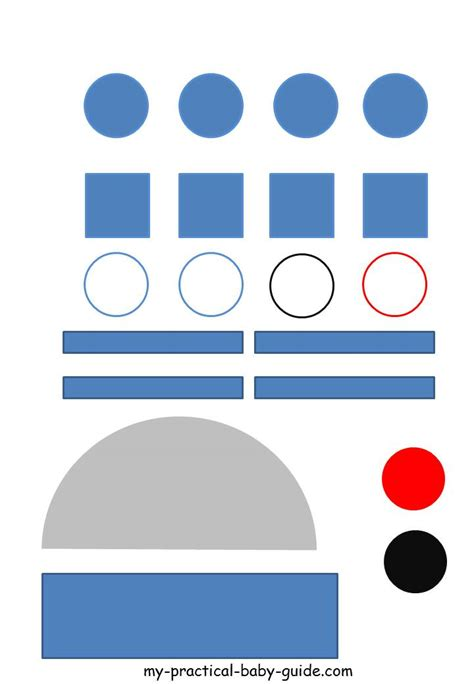 R2d2 Printable Template by Free Printable Wars R2d2 Droid Craft Template This
