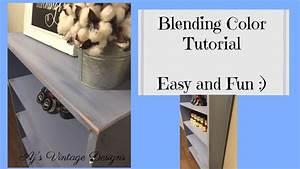 Blending Several Colors Of Chalk Paint Finish Tutorial