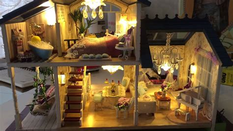 cute room diy miniature room provence lavender doll house