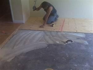 Hardwood flooring on concrete flooring contractor talk for How to put down hardwood floors on concrete