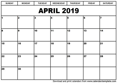 printable april calendar qualads
