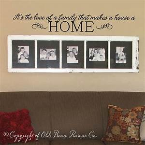 vinyl wall decal its the love of a family home With family lettering wall art
