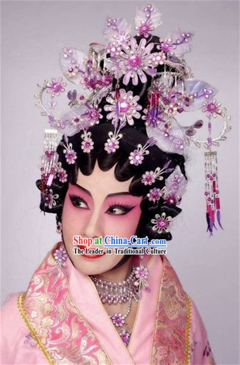 hair decoration traditional wig and hair decoration complete set