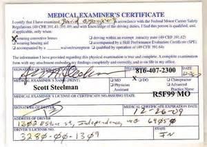 Printable CDL Medical Card