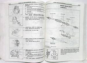 1985 Toyota Corolla Ff Shop Repair Manual  U0026 Electrical