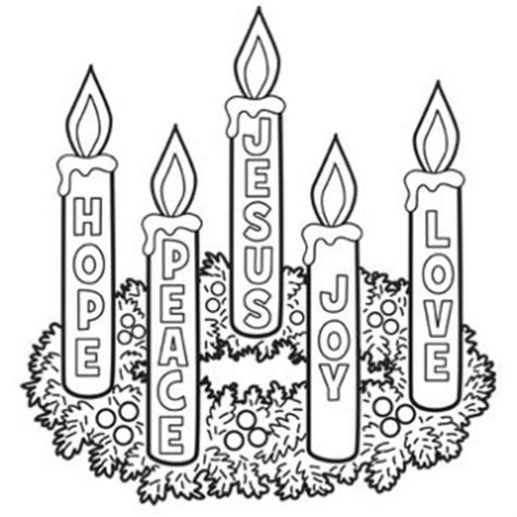 advent wreath coloring page  christmas recipes