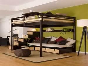 lit mezzanine la vedette de la chambre a coucher With tapis oriental avec lit mezzanine avec canapé