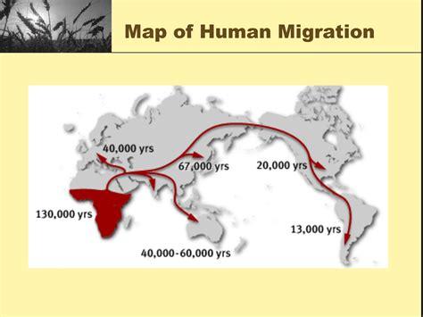 map  human migration trails  black history