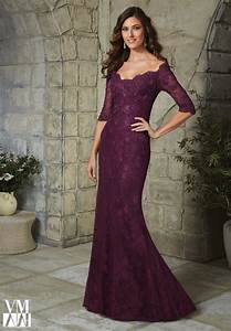 elegant plus size half sleeve plum lace mother of the With plum dress for wedding