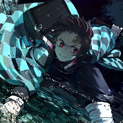 demon slayer tanjirou kamado ipad air wallpaper