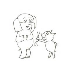 Coloring Pages Elephant And Piggie Best Coloring Page 2017