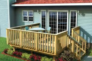 Simple Timber Deck Plans Ideas Photo by Project Plan 90002 Easy Raised Deck