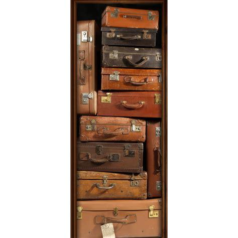 sous bureau personnalisable sticker de porte quot valises quot trompe l 39 oeil avenue