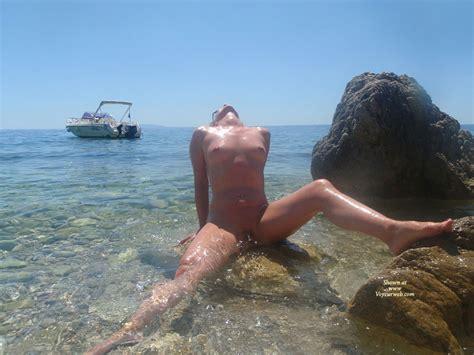 Nude Wife Sitting On Rocky Beach July Voyeur Web Hall Of Fame