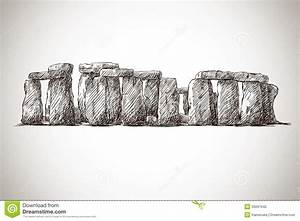 Stonehenge. Vector Drawing. UK Landmark. Royalty Free ...