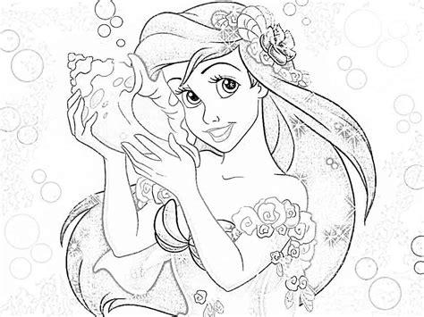 disney princesses coloring pages ariel coloring home