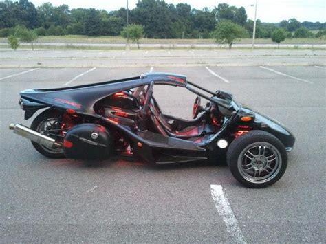 Buy 2007 Campagna Motors T-rex 14r Black Reverse Trike On